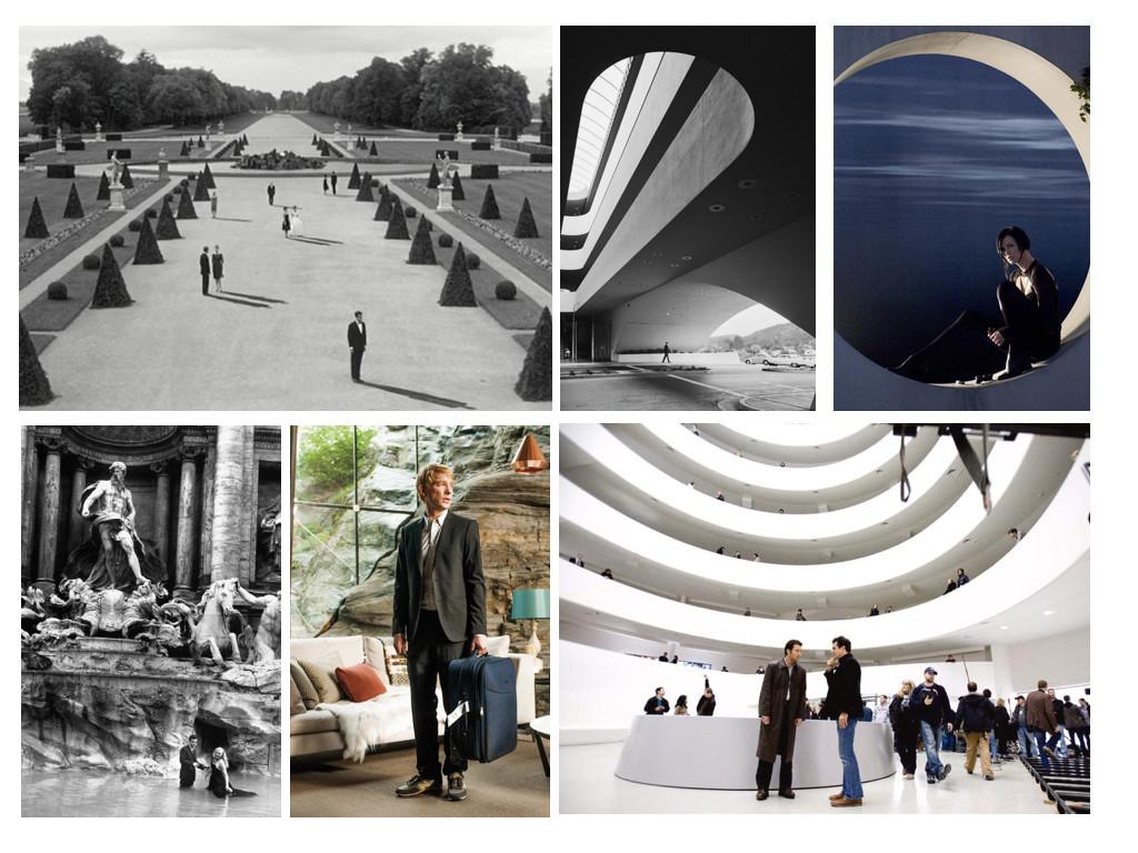 Last Year in Marienbad 1961 / Gattaca 1997 / Æon Flux 2005 / La Dolce Vita 1960 / Ex Machina 2014 / The International 2009