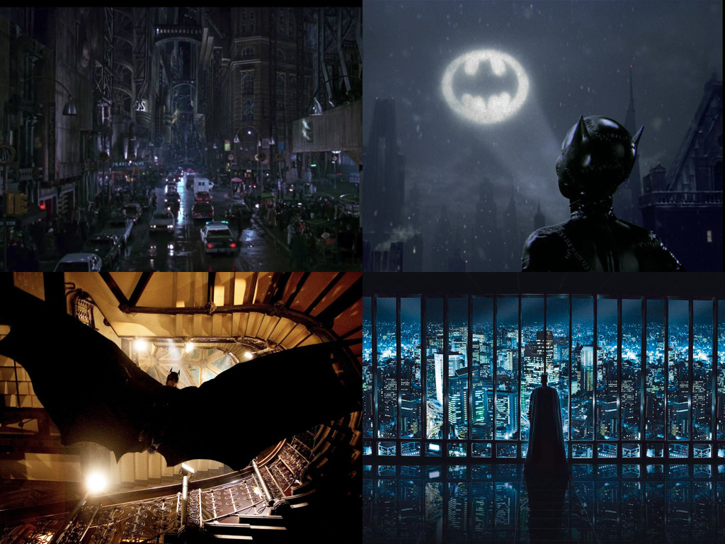 Batman 1989 / Batman Returns 1992 / Batman Begins 2005 / The Dark Knight Rises 2012