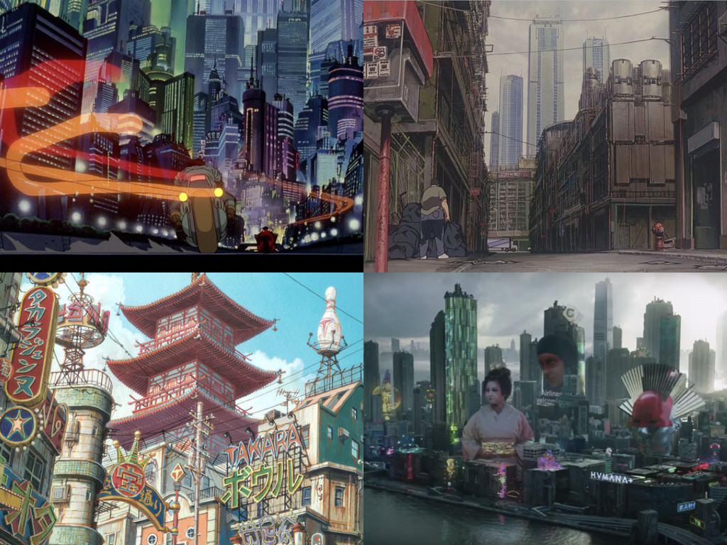 Akira 1988 / Ghost in the Shell 1995 / Tekkonkinkreet 2006 / Ghost in the Shell 2017
