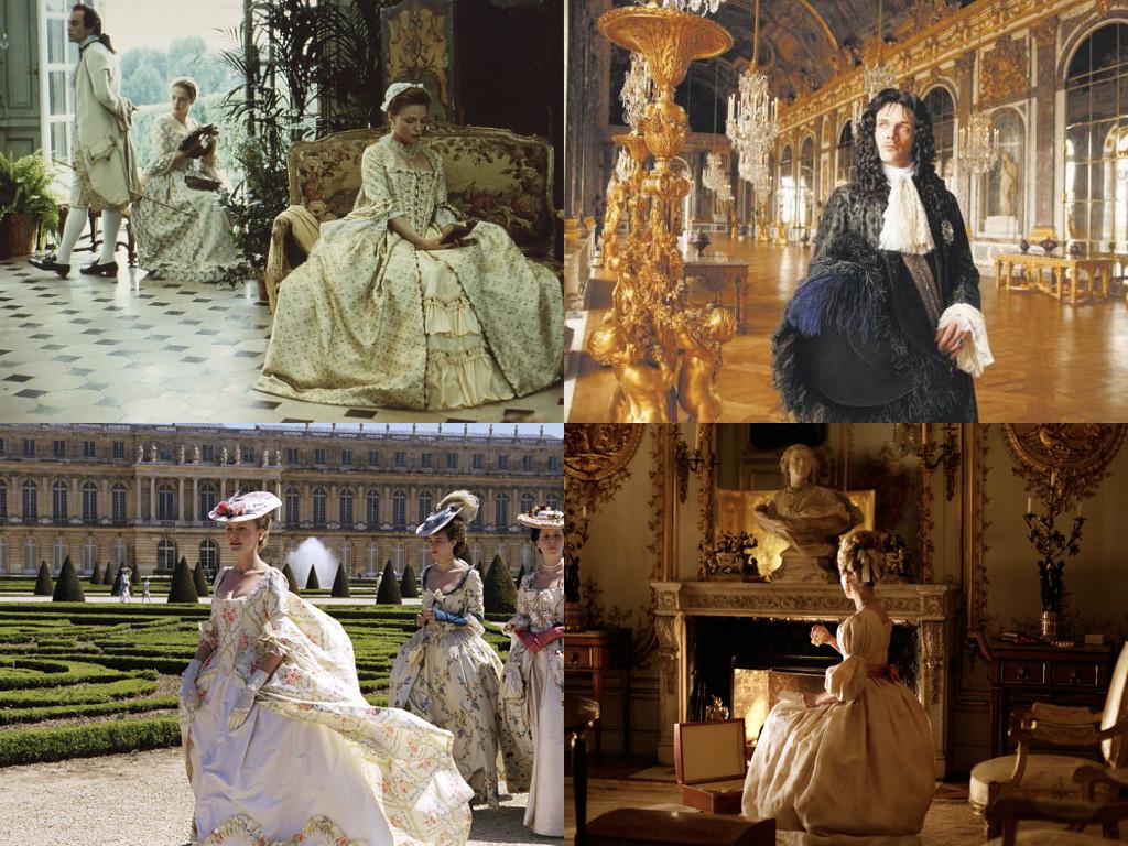 Dangerous Liaisons 1988 / Versailles, le rêve d'un roi 2007 / Marie-Antoinette 2006 / Farewell, My Queen 2012