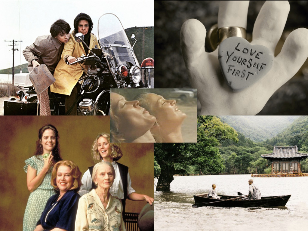 Harold and Maude 1971 / Mary and Max 2009 / Fried Green Tomatoes 1991 / Spring, Summer, Fall, Winter... and Spring 2003 / Alice Doesn't Live Here Anymore 1974