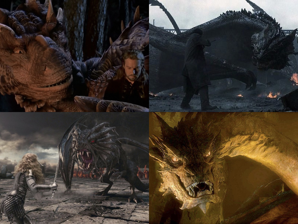 Dragonheart 1996 / Reign of Fire 2002 / Alice in Wonderland 2010 / The Hobbit: The Desolation of Smaug 2013
