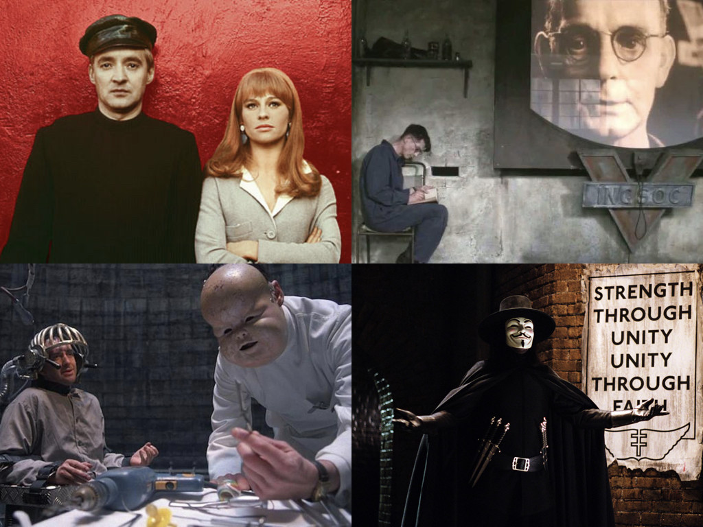 Fahrenheit 451 1966 / Nineteen Eighty-Four 1984 / Brazil 1985 / V for Vendetta 2005
