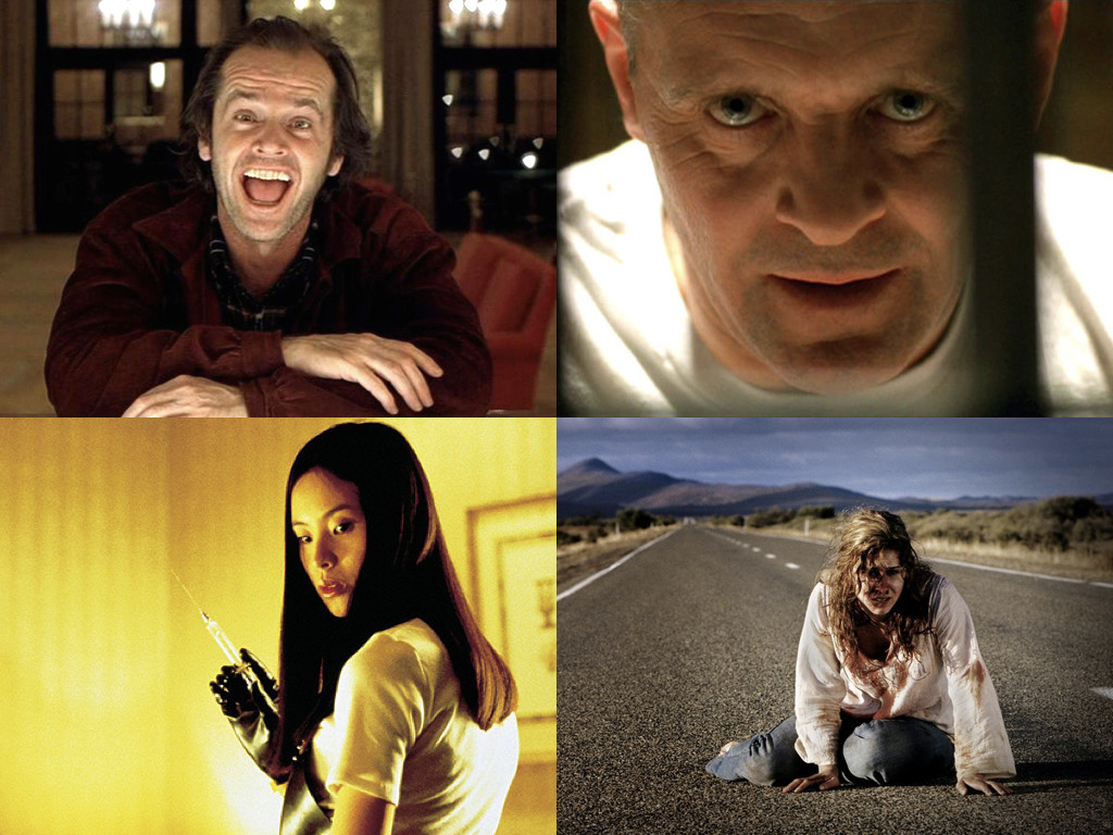 The Shining 1980 / The Silence Of The Lambs 1991 / Audition 1999 / Wolf Creek 2005