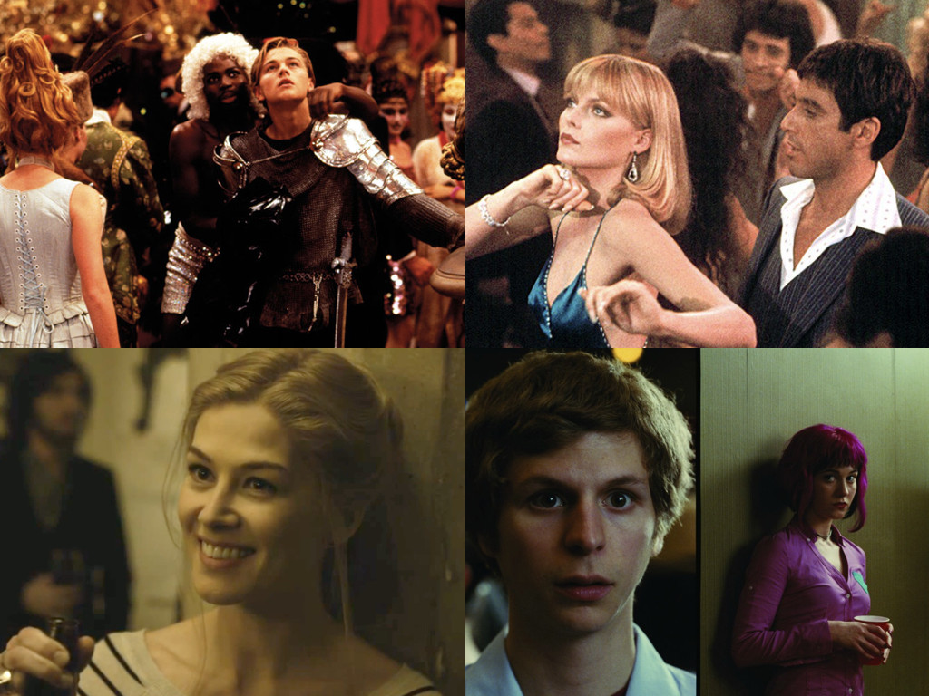 Romeo + Juliet 1996 / Scarface 1983 / Gone Girl 2014 / Scott Pilgrim vs. the World 2010