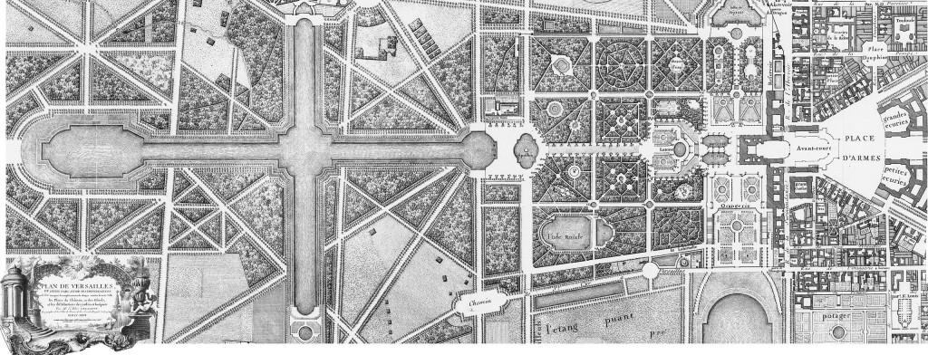 План на Версай от 1746