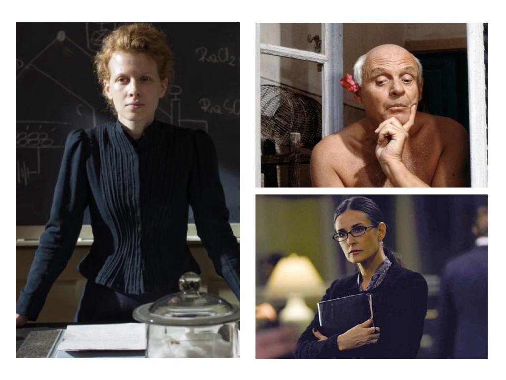Три от типовете на Холанд: изследователски - Marie Curie 2016 / артистичен - Surviving Picasso 1996 / конвенционален - Margin Call 2011