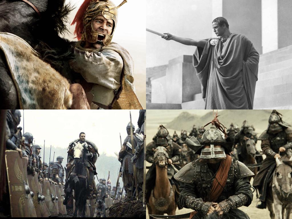 Alexander 2004 / Julius Caesar 1953 / Gladiator 2000 / Mongol 2007