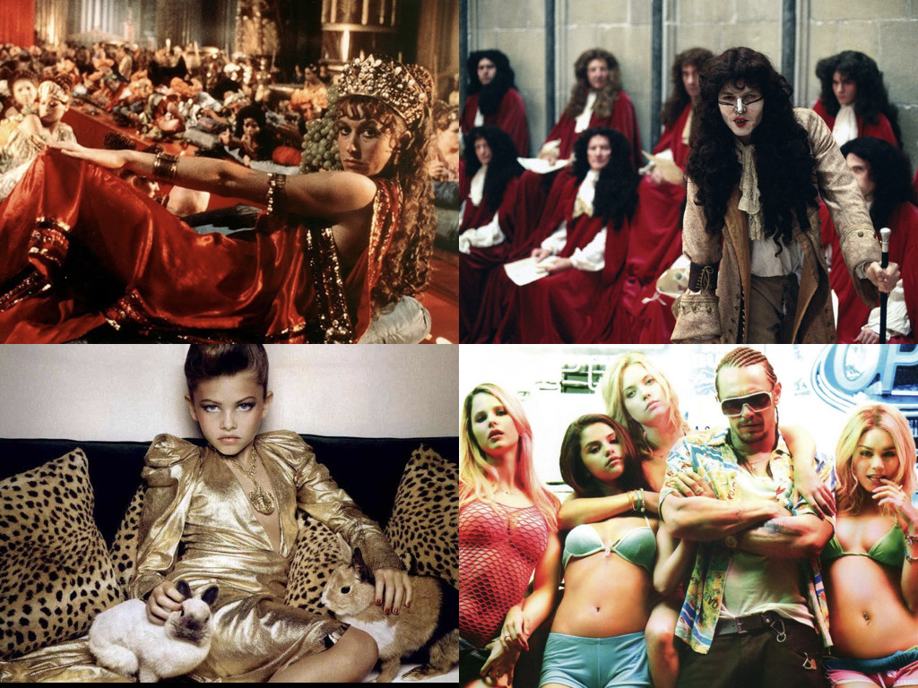 Caligula 1979 / The Libertine 2004 / December 2010 Vogue Paris - сексуализация на 10-годишно момиче / Spring Breakers 2012