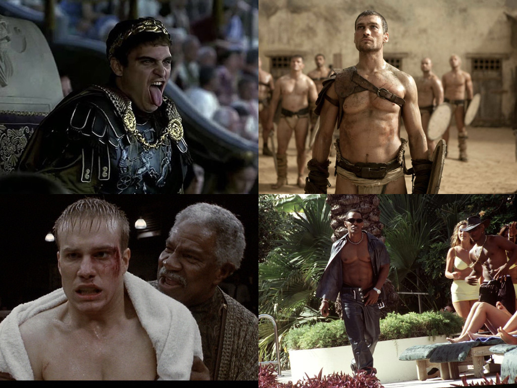 Gladiator 2000 / Spartacus 2010-2013 / Gladiator 1992 / Any Given Sunday 1999
