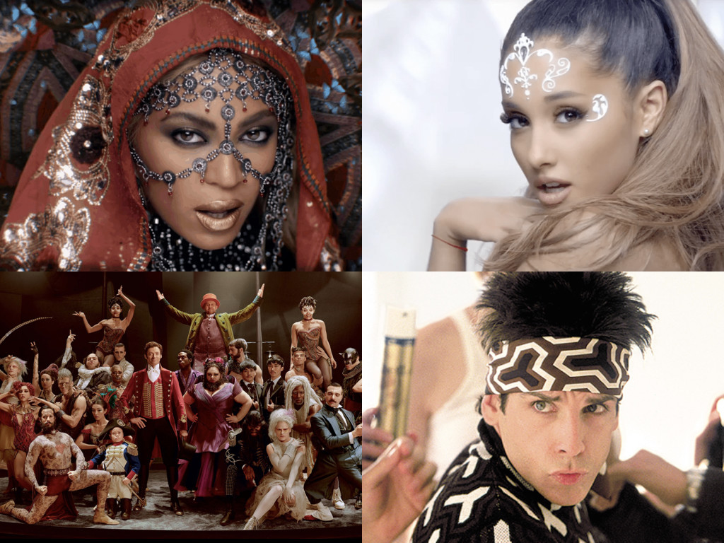 Beyonce - Hymn for the Weekend by Coldplay / Ariana Grande - Break Free / The Greatest Showman 2017 / Zoolander 2001