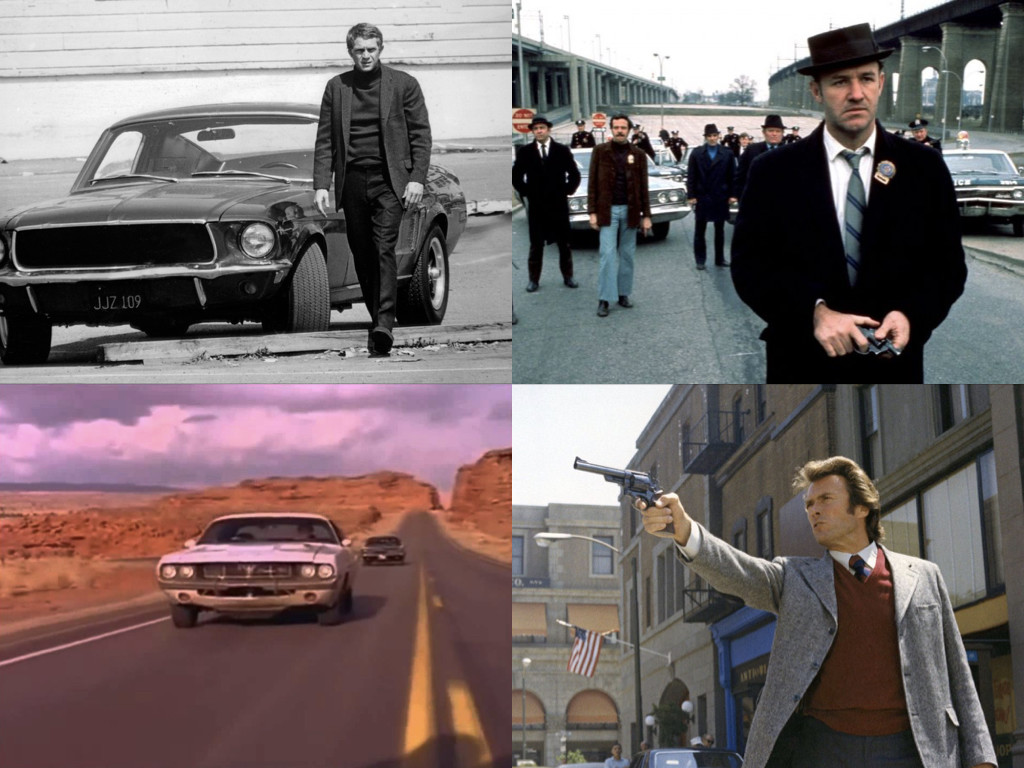 Bullitt 1968 / The French Connection 1971 / Vanishing Point 1971 / Dirty Harry 1971