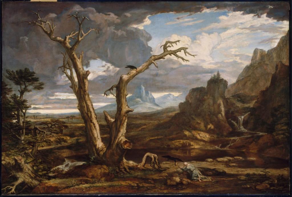 Илия в дивото, художник Вашингтон Алстън, 1878