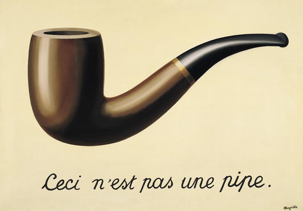 Ceci n'est pas une pipe 1928-29, Рене Магрит