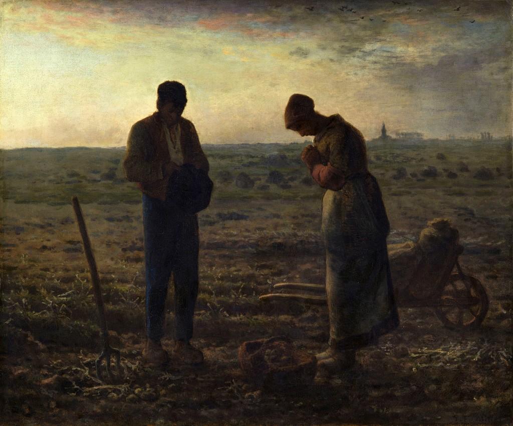 Вечерна молитва, художник Жан-Франсоа Миле, около 1857-1859