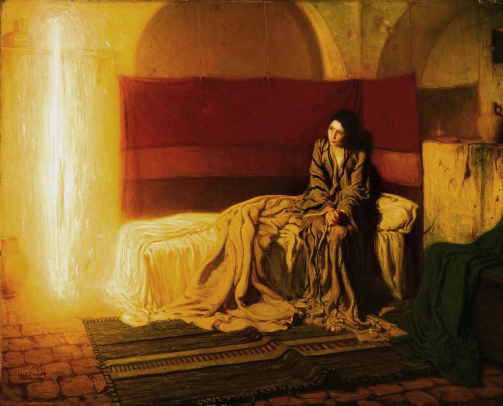 Благовещението, художник Хенри Осава Танер, 1898