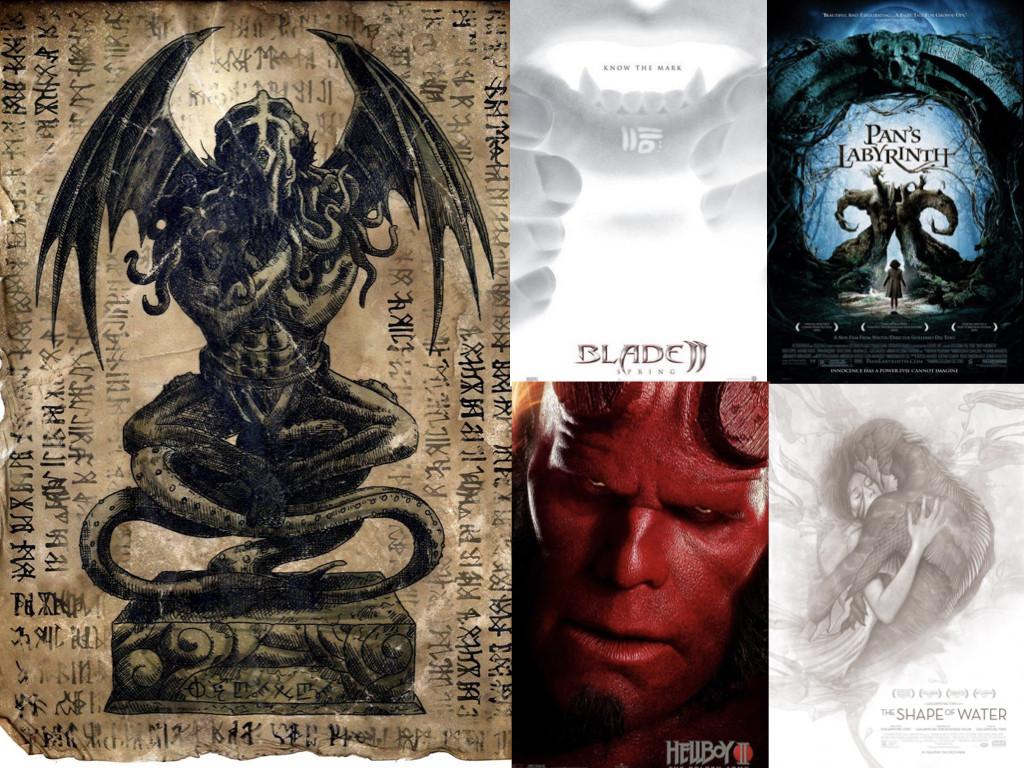 Cthulhu Idol, Necronomicon Page by WendigoMoon @DeviantArt / Филми режисирани от Гийермо дел Торо