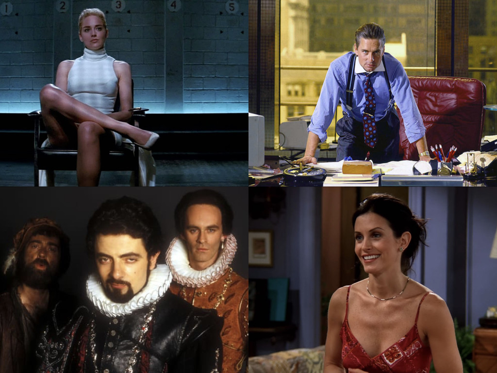 Майстори на контрола: Basic Instinct 1992 / Wall Street 1987 / Blackadder 1983-1989 / Friends 1994–2004