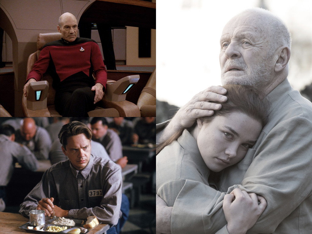 Трима стоици: Жан-Люк Пикард, Star Trek: The Next Generation 1987-1994 / Анди Дюфрейн, The Shawshank Redemption 1994 / Корделия, King Lear 2018